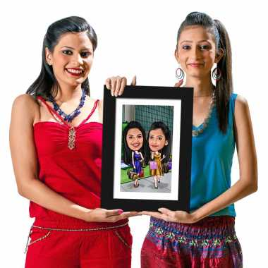 Shopping Buddies - Caricature Photo Frame