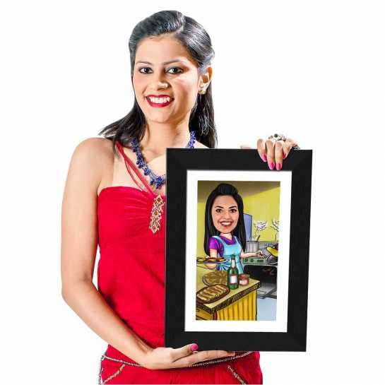 Cooking - Caricature Photo Frame