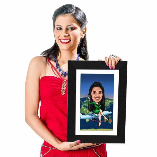 Around The World - Caricature Photo Frame