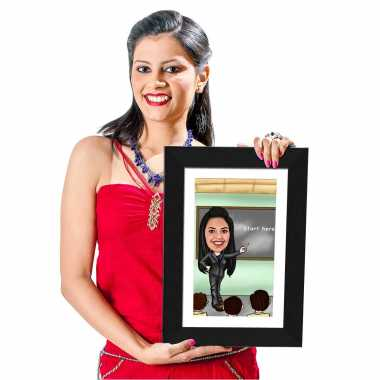 Teacher - Caricature Photo Frame