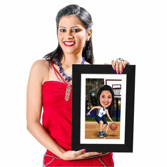 Basketball - Caricature Photo Frame