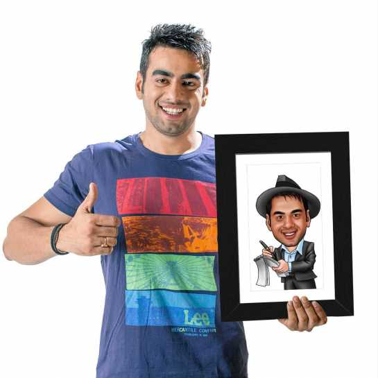 Journalist - Caricature Photo Frame