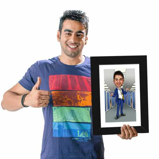 Officer - Blue - Caricature Photo Frame