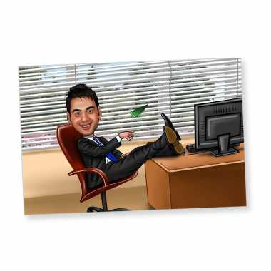 Boss of Good Times Caricature Magnet