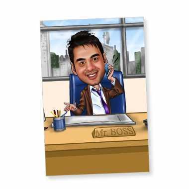 Mr.Boss - Caricature Fridge Magnet