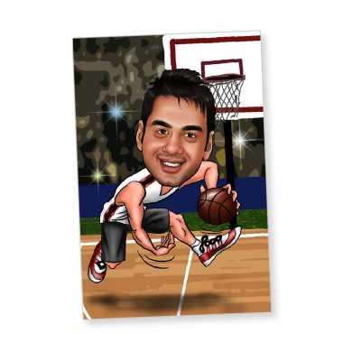 Basketball - Caricature Fridge Magnet