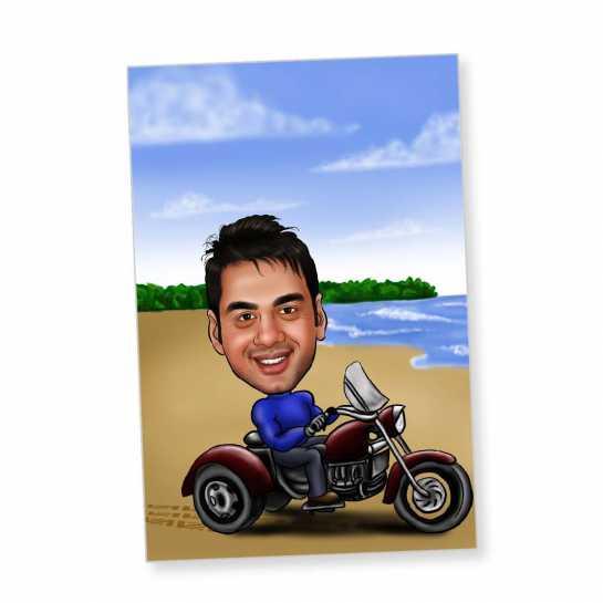 Motorsport - Caricature Fridge Magnet