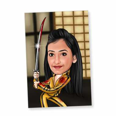 Caricature Magnet for Fighter Girl