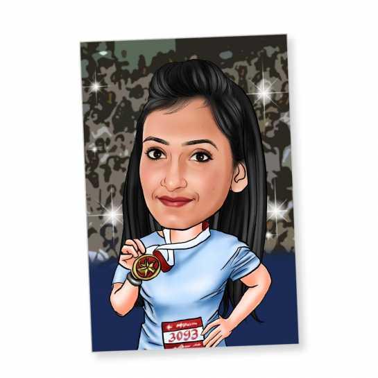 Winner - Caricature Fridge Magnet