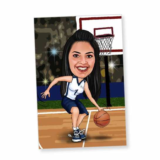 Basketball - Caricature Fridge Magnet