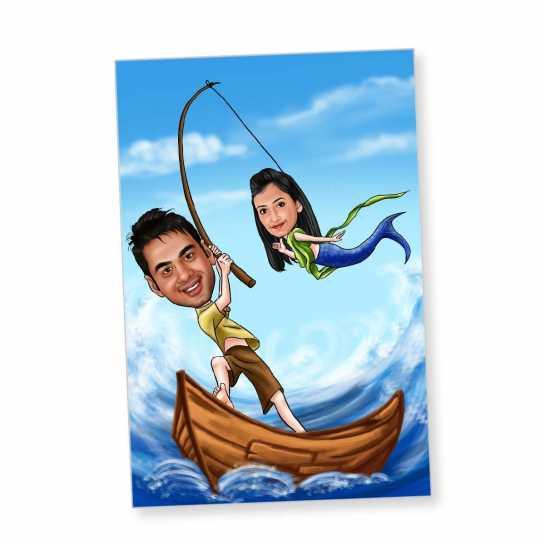 Your are my Mermaid - Caricature Fridge Magnet