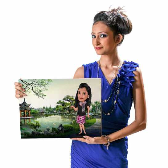Loves to Travel - Caricature Canvas