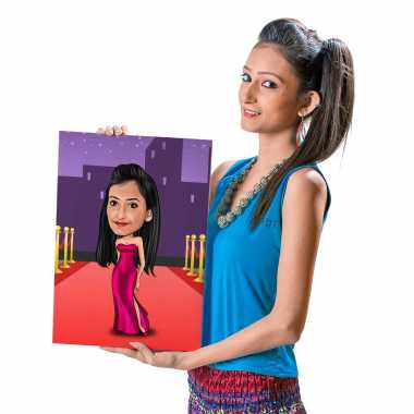 Red Carpet - Caricature Canvas