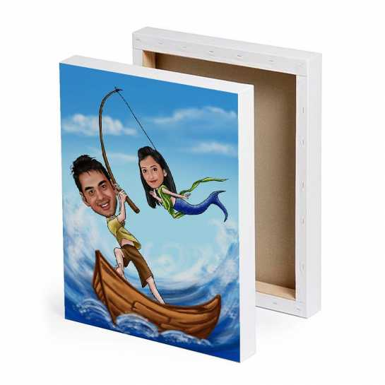 Your are my Mermaid - Caricature Canvas