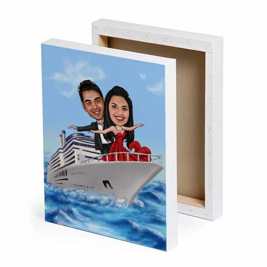 Titanic Pose - Caricature Canvas