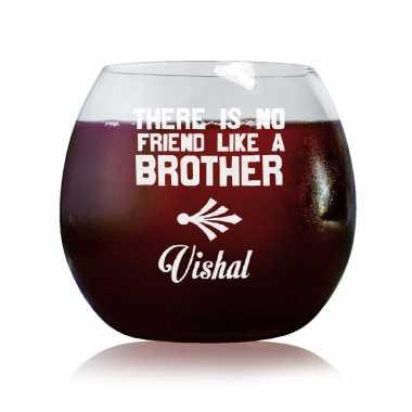 No Friend Like Brother - Stylish Wine Glasses