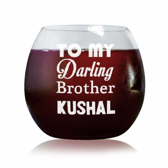 Darling Brother - Stylish Wine Glasses