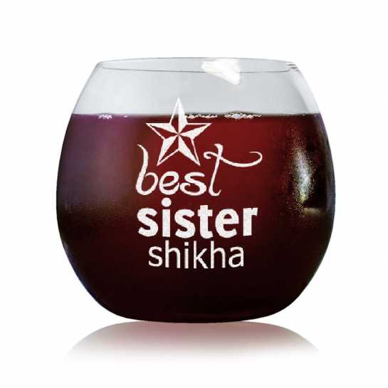 Best Sister - Stylish Wine Glasses