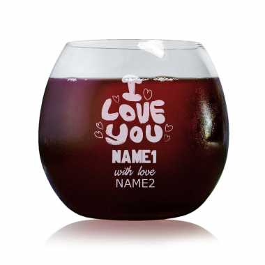 Love Message Custom Wine Glass