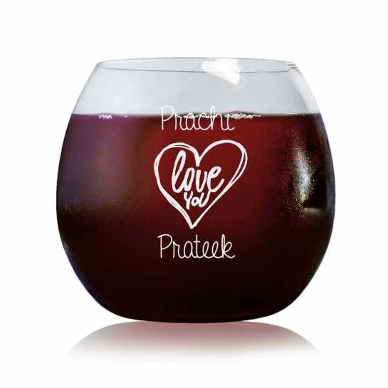 Love You - Stylish Wine Glasses