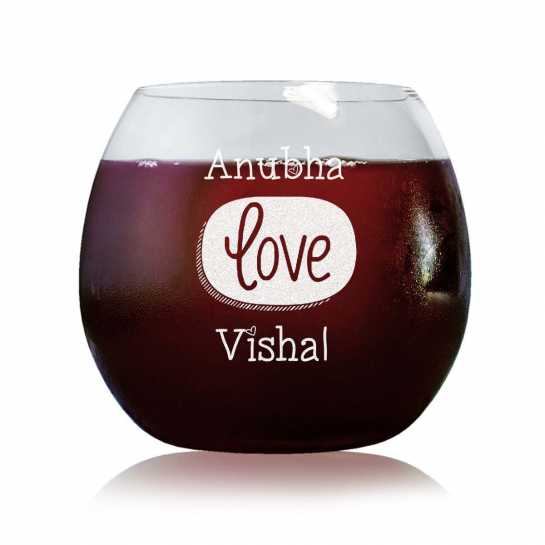 Bound By Love - Stylish Wine Glasses
