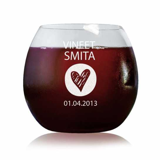 Bottom Of My Heart - Stylish Wine Glasses