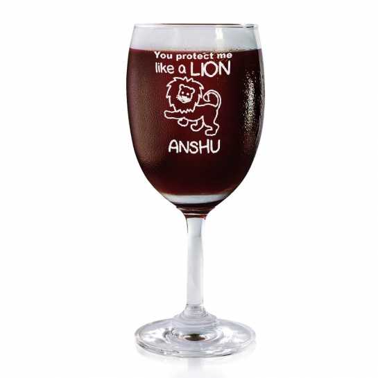 My Lion - Wine Glasses