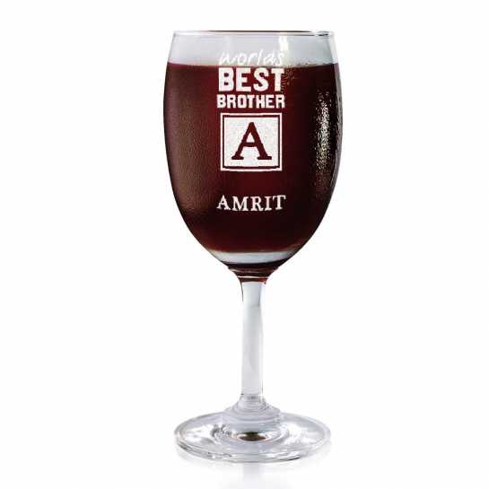 Best Bro - Monogram - Wine Glasses