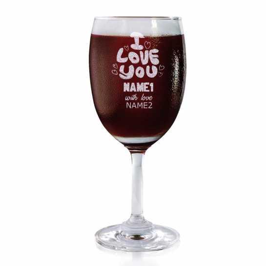 I love You Always - Wine Glasses