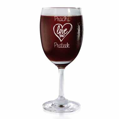 Love You - Wine Glasses