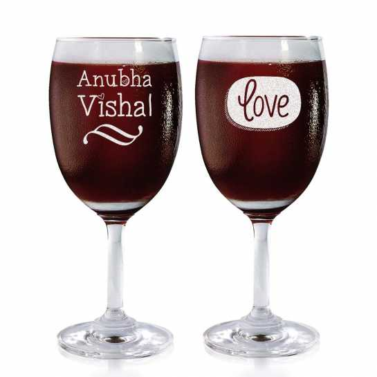 Our Love - Wine Glasses