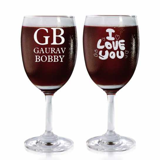 Eternal Love Story - Wine Glasses