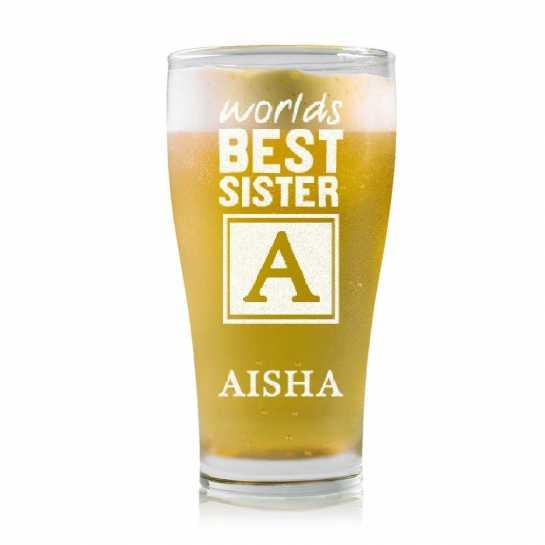 Best Sis - Monogram - Stylish Beer Mug