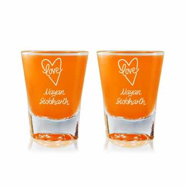 Love From Heart - Shot Glasses