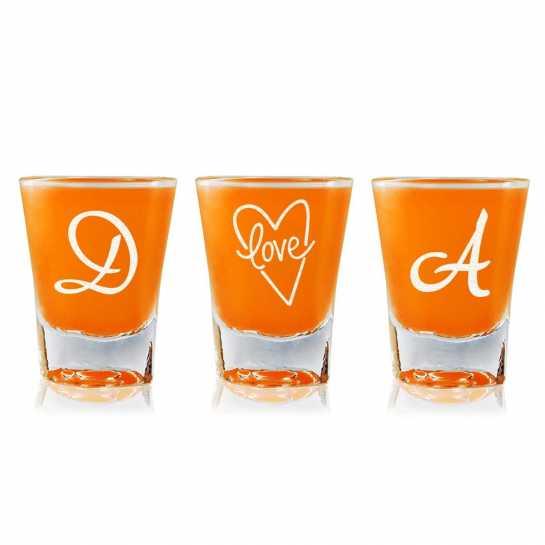 Love initials - Shot Glasses