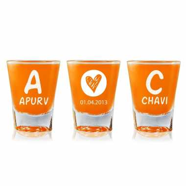 Personalized Shot Glasses for Wedding