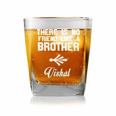 Friendly Brother Personalized Whiskey Glass