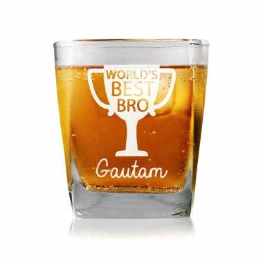 Champion Brother Personalized Whiskey Glass