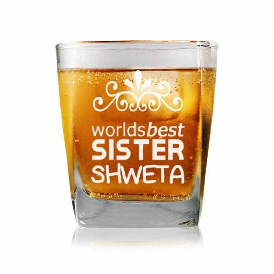 World's Best Sister - Whisky Glasses