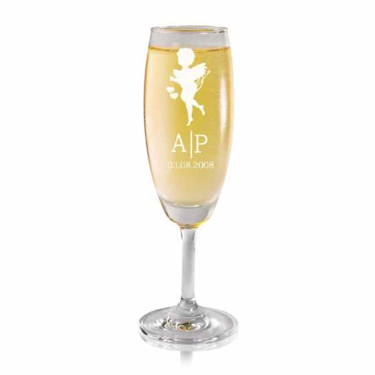 Cupid Angel - Champagne Glass