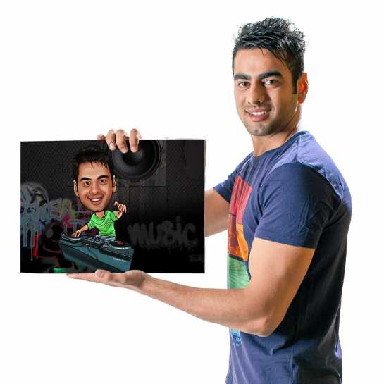 The DJ - Caricature Canvas