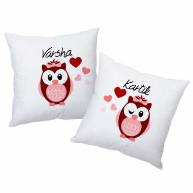 Love Birds Personalized Cushions