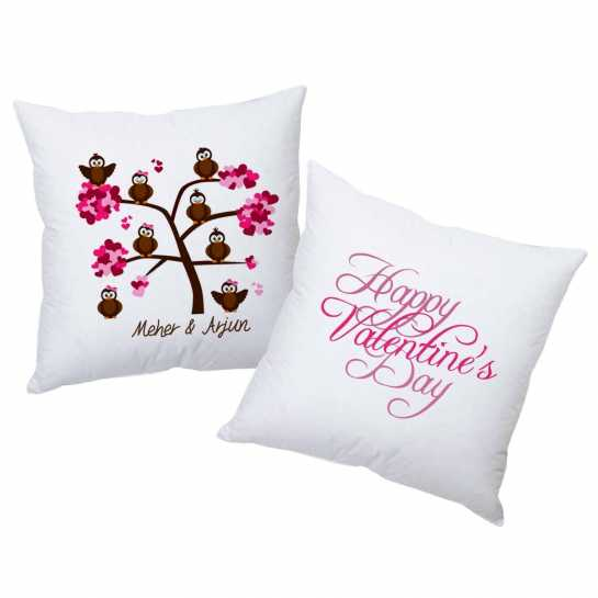 Happy Valentine Birds- Personalized Cushions