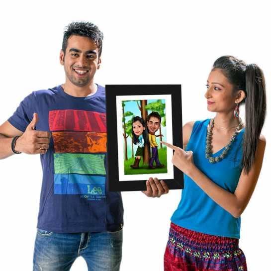 Filmi Couple - Caricature Photo Frame
