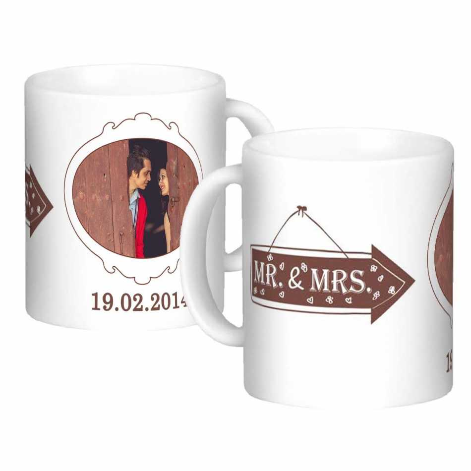 Buy Cute Couple Personalized Mugs Online