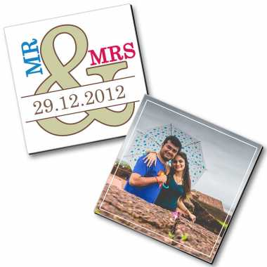 Mr. & Mrs. Photo Magnet