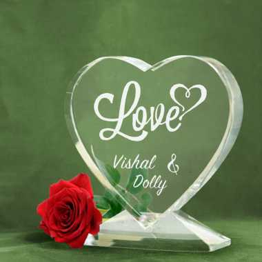 Love - Heart Shaped Crystal