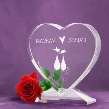 Infinete Love - Heart Shaped Crystal