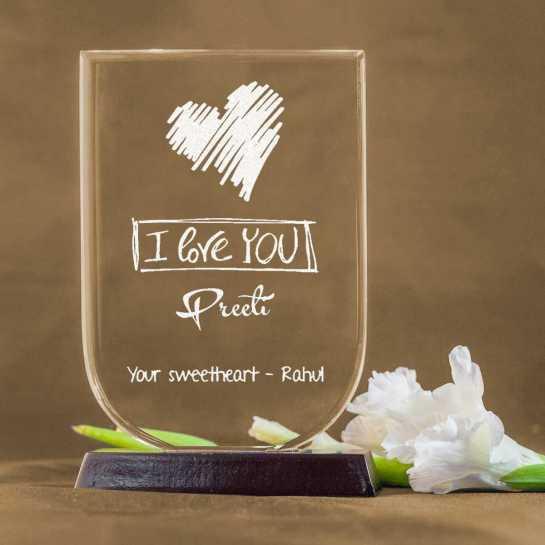 I love You - U Shaped Memento