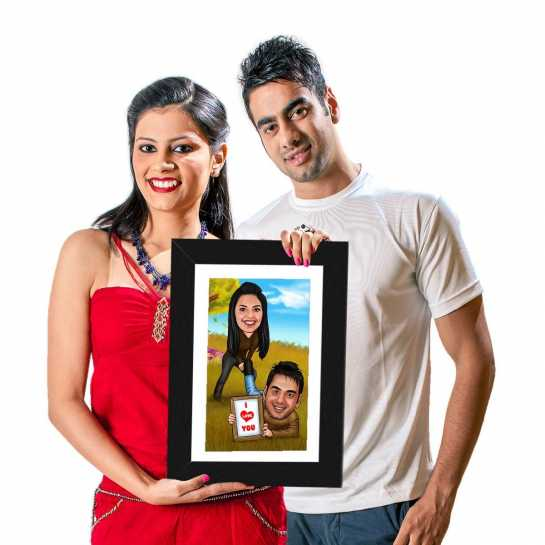 You Can't Run Away - Caricature Photo Frame